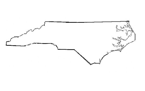 North carolina state geography map black and white clipart picture transparent North Carolina Outline tattoo, that I\'m getting on my left forearm ... picture transparent