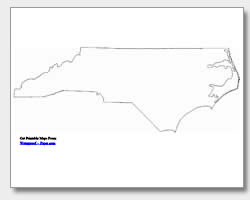 North carolina state geography map black and white clipart picture black and white library Printable North Carolina Maps | State Outline, County, Cities picture black and white library
