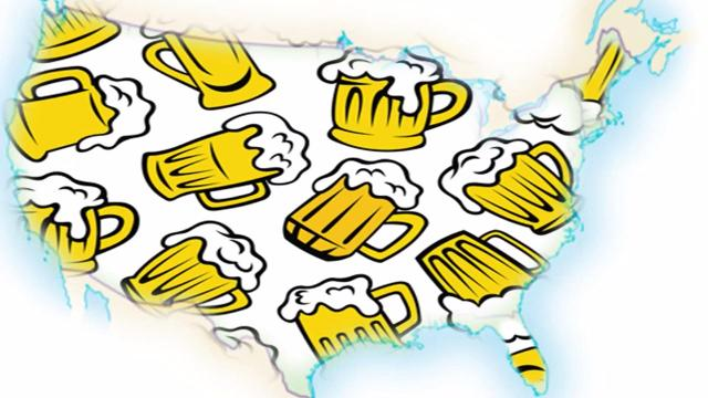 North dakota alcohol consumption- clipart black and white stock These states drink the most beer black and white stock
