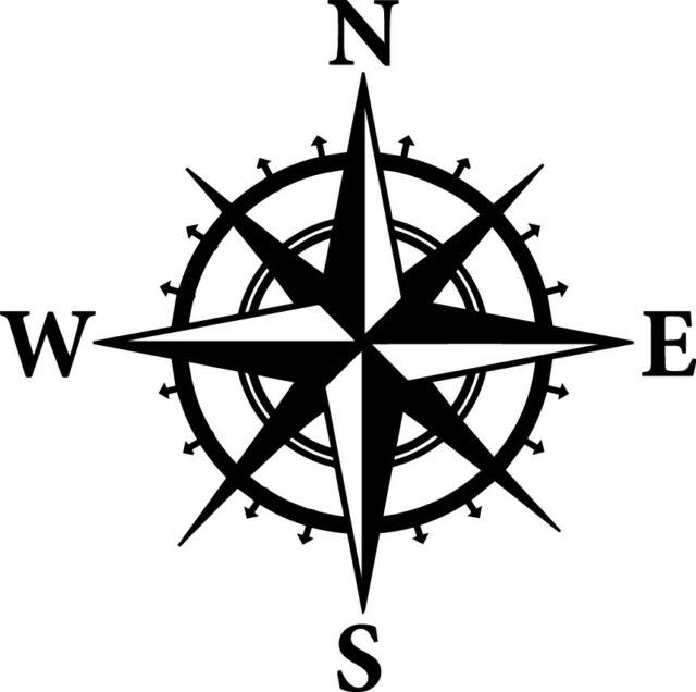 North east west south clipart png freeuse download Compass Decal Window Bumper Sticker Car North South East West Travel Wander  Boat png freeuse download