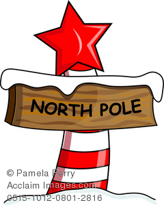 The north pole clipart vector transparent Clip Art Image of a North Pole Sign in the Snow vector transparent