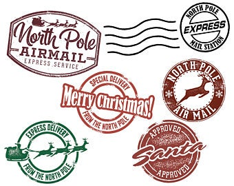 North pole stamp clipart clip free library Stamp clipart christmas mail for free download and use images in ... clip free library