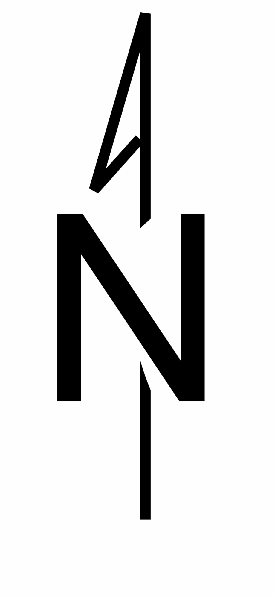 North sign clipart png black and white library Steampunk Clipart North Arrow - Compass Rose North Only Free PNG ... png black and white library