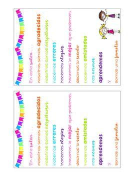 Nosotros spanish somos clipart clip Classroom Posters FREEBIE {SPANISH} | School staff | Classroom ... clip