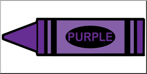 Not purple crayon clipart banner free stock Clip Art: Crayon Purple Color I abcteach.com   abcteach banner free stock