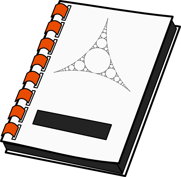 Note book clipart png library Notebook Clip Art at Clker.com - vector clip art online, royalty ... png library