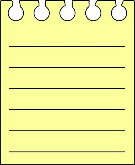 Note pad clipart transparent stock Note Pad clip art Free vector in Open office drawing svg ... transparent stock