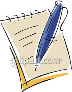 Notepad and pen clipart vector free download A Pen Writing on a Notepad - Royalty Free Clipart Picture vector free download