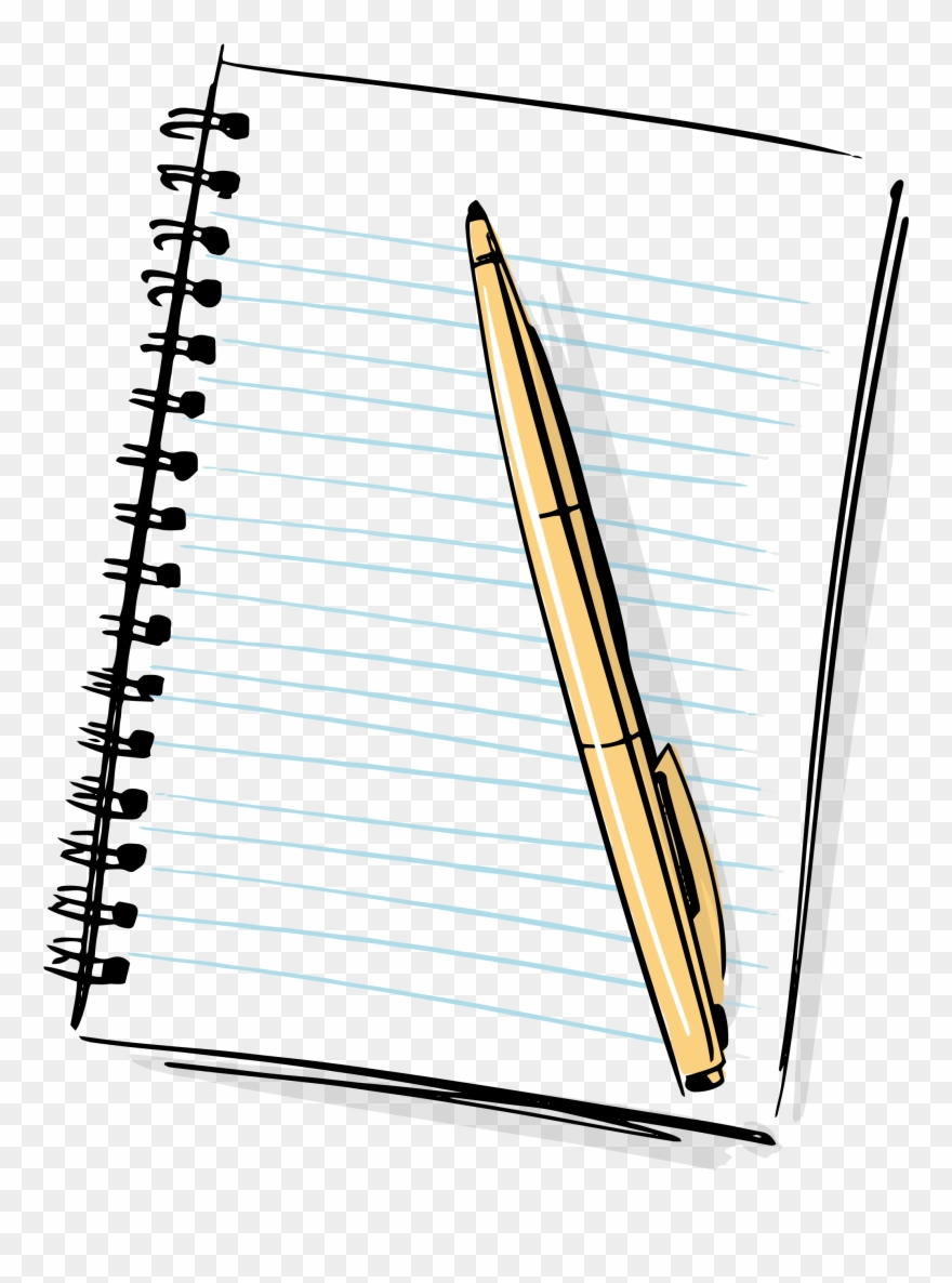 Notepad and pen clipart image royalty free library Hd Cartoon Pencil And Paper Pencil And Paper Png - Notebook And Pen ... image royalty free library