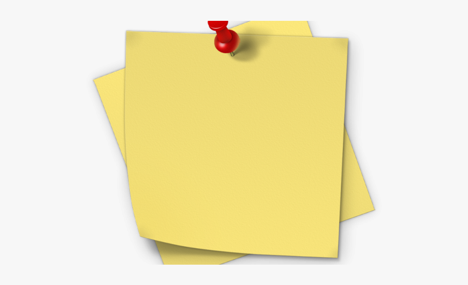 Post It Clipart Piece Paper - Sticky Notes Png Hd #952921 - Free ... clip art transparent