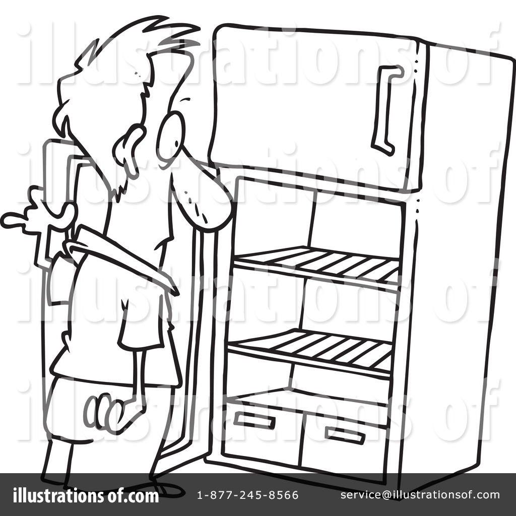 Nothing in the fridg clipart black and white image transparent stock Cartoon Refrigerator Clipart | Free download best Cartoon ... image transparent stock