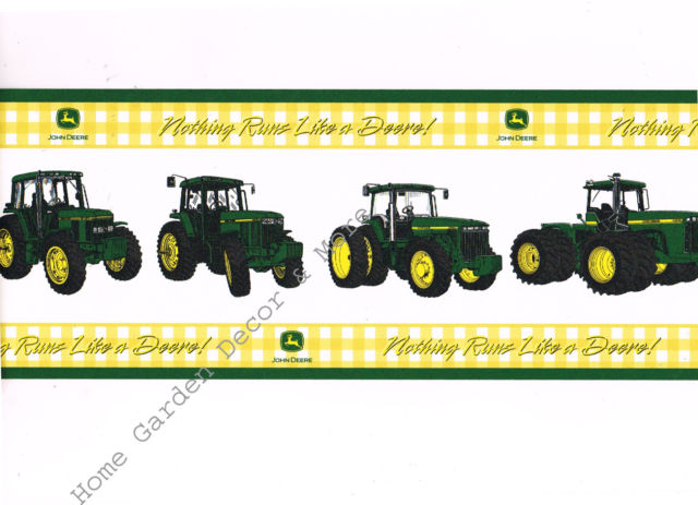 Nothing runs like a deere clipart banner freeuse stock Genuine John Deere Yellow Green Tractor Nothing Run Like a Deer Wallpaper  Border banner freeuse stock