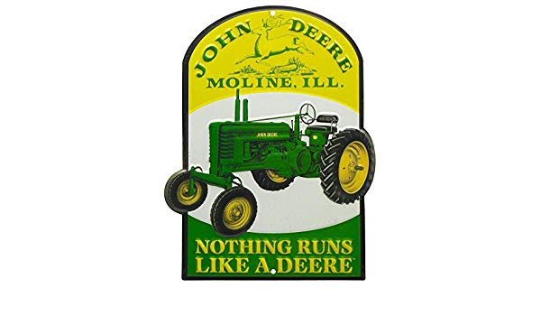 Nothing runs like a deere clipart jpg library download John Deere Nothing Runs Like a Deere Tin Sign 8 x 10in ... jpg library download