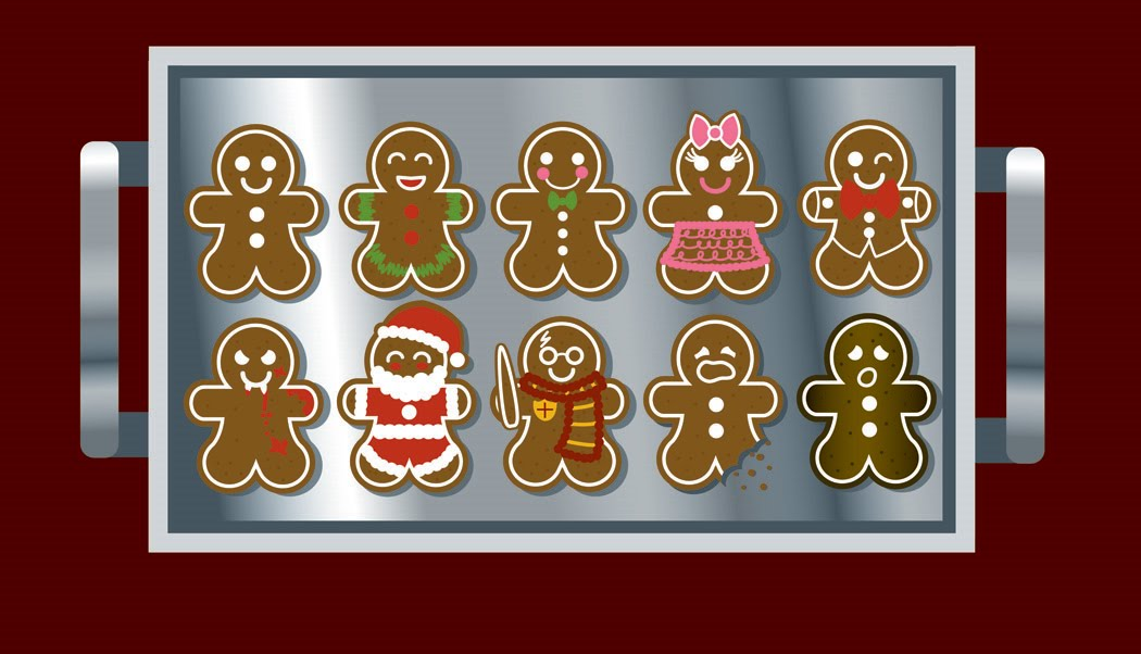 Nothing says christmas like gingerbread clipart svg library library Doodles and Such: Maria Clapsis Illustrations: December 2010 svg library library