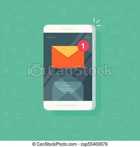 Notificacion clipart image transparent stock inbox, mensaje, clipart, notificación, aislado, e-mail, nuevo, email,  plano, smartphone, leer, pantalla, sobre, teléfono, correo, caricatura,  teléfono ... image transparent stock