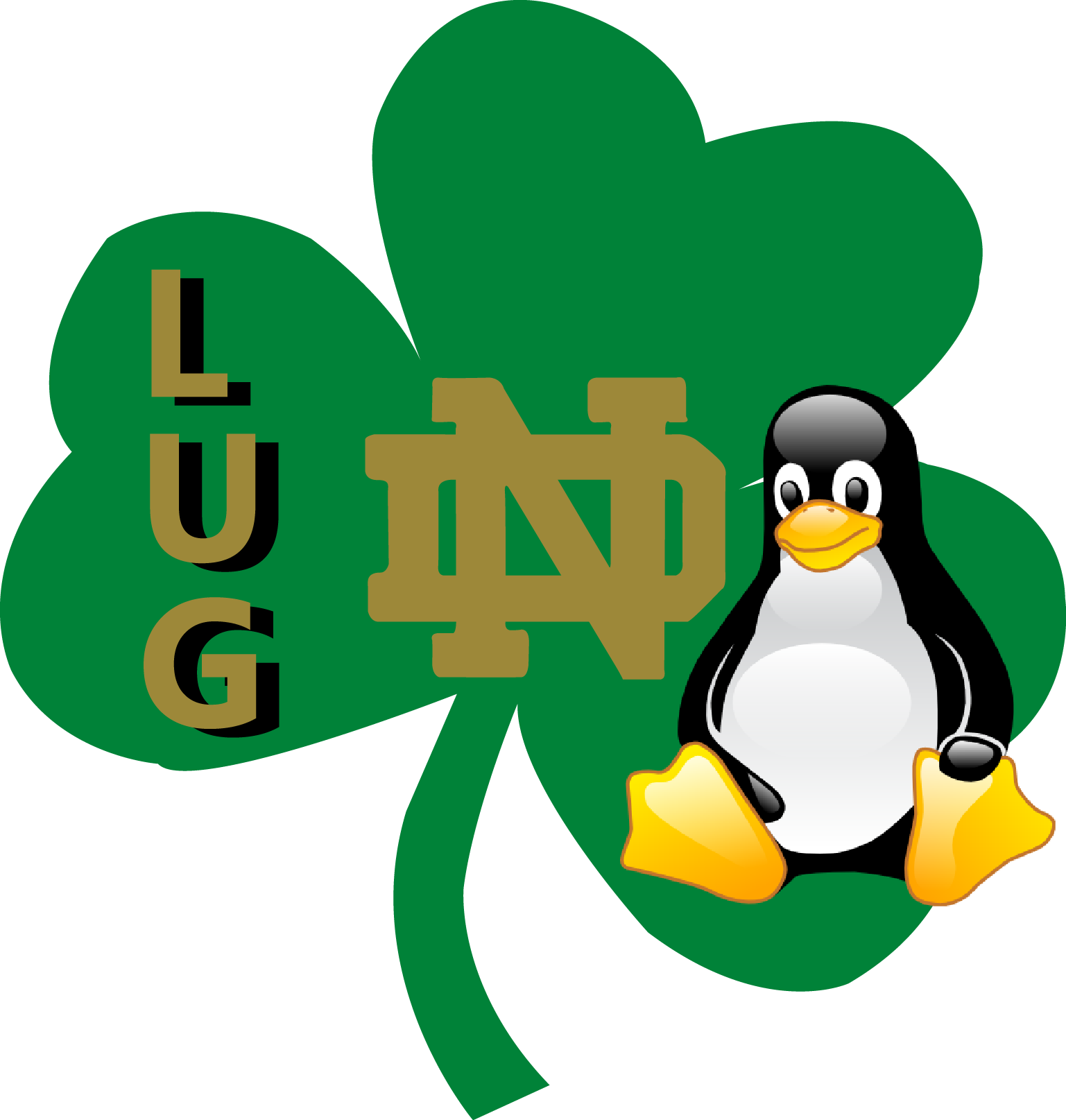 Notre dame football clipart clip library library Notre Dame Linux Users Group clip library library