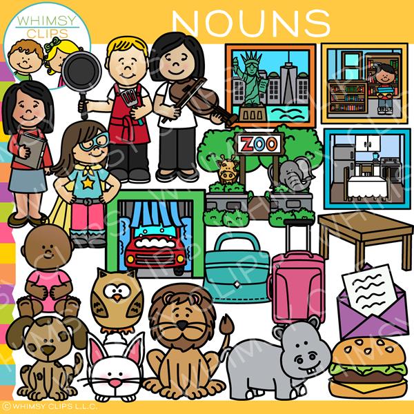 Nouns clipart banner freeuse download ELA Nouns Clip Art banner freeuse download
