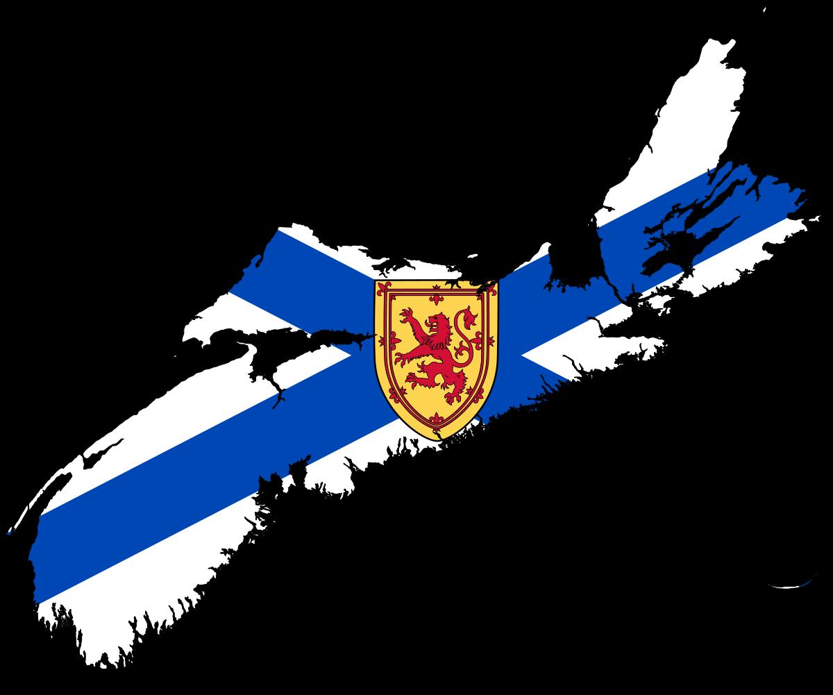 Nova scotia clipart picture freeuse stock File:Flag-map of Nova Scotia.svg - Wikimedia Commons picture freeuse stock
