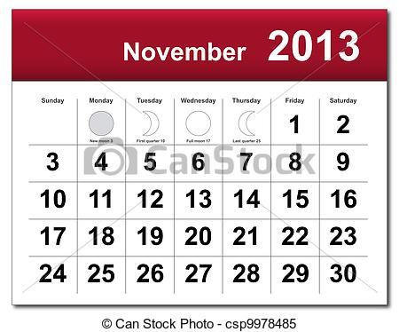 November 2013 calendar clipart picture transparent library November Calendar Clipart - Clipart Kid picture transparent library