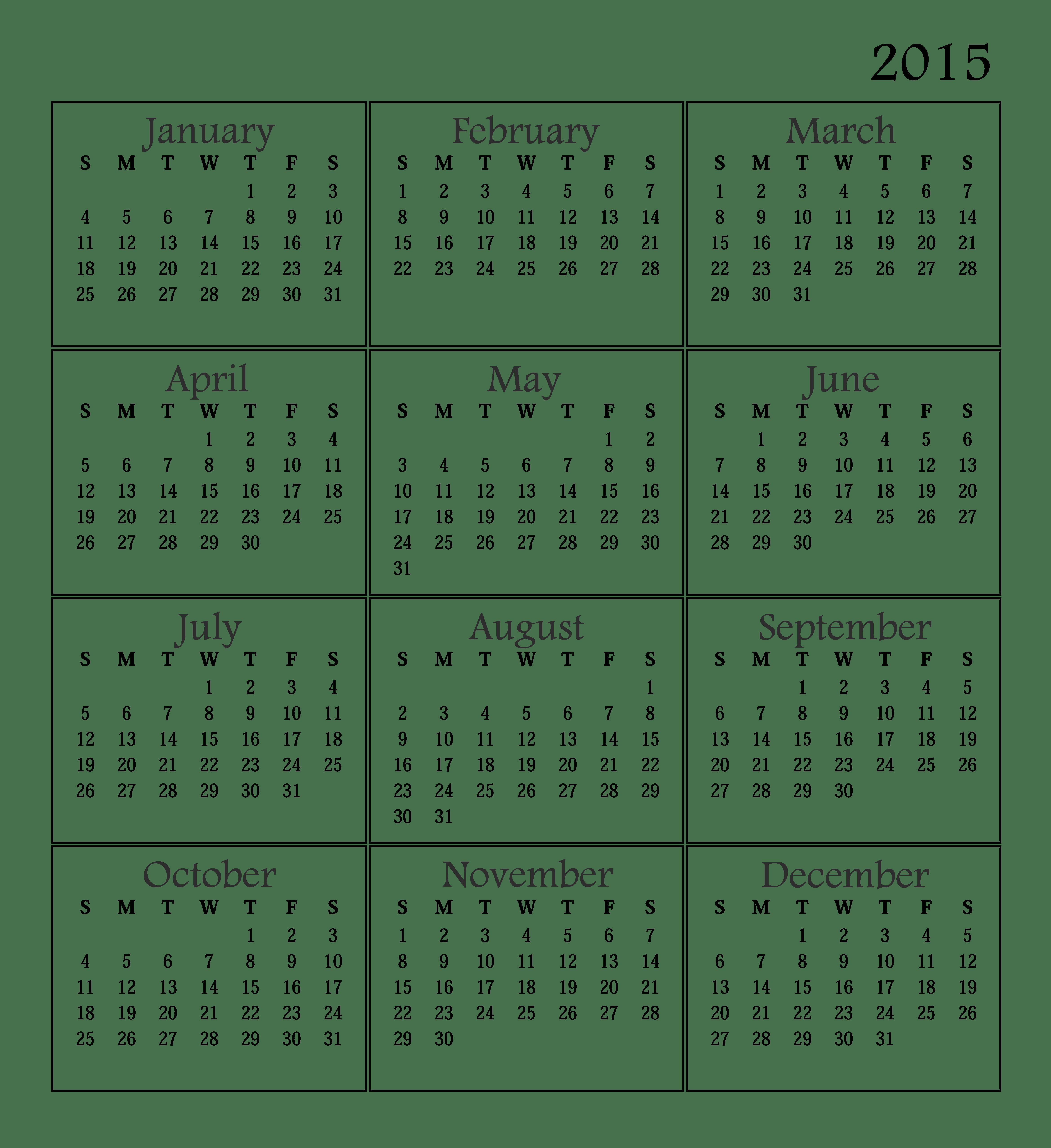 November 2015 calendar clipart png transparent download January | 2015 | Find Calendar png transparent download