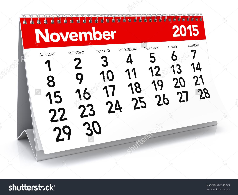 November 2015 calendar clipart clip art black and white download November 2015 Calendar Stock Illustration 209346829 - Shutterstock clip art black and white download