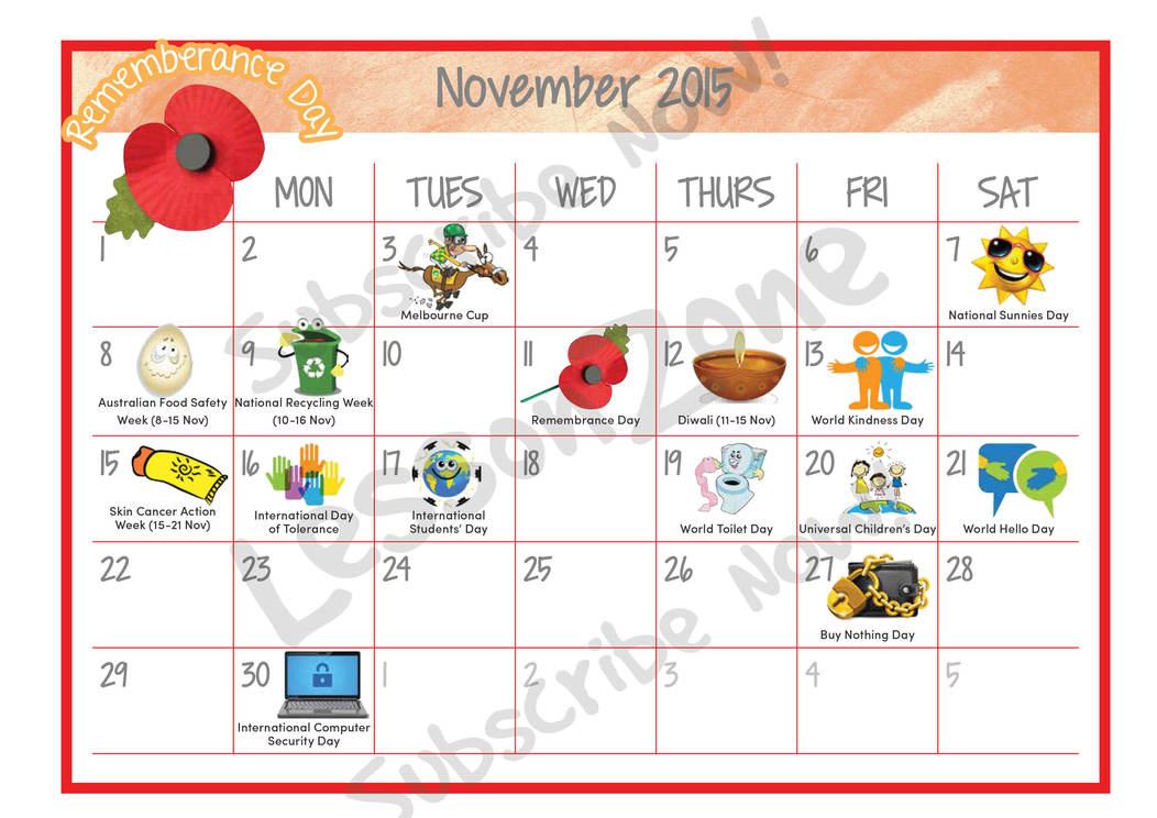 November 2015 calendar clipart jpg library Cute november calendar clipart 2015 - ClipartFest jpg library