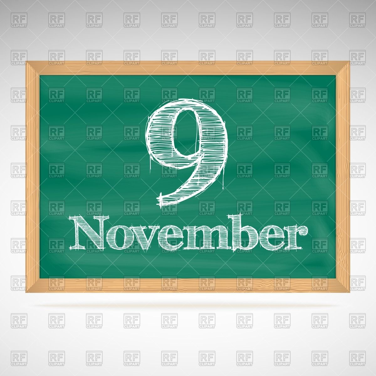 November 9th calendar clipart svg free stock School chalkboard calendar with inscription in chalk November 9 ... svg free stock