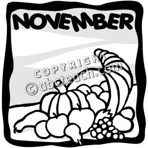 November calendar clip art clip freeuse stock November calendar clipart black and white - ClipartFest clip freeuse stock