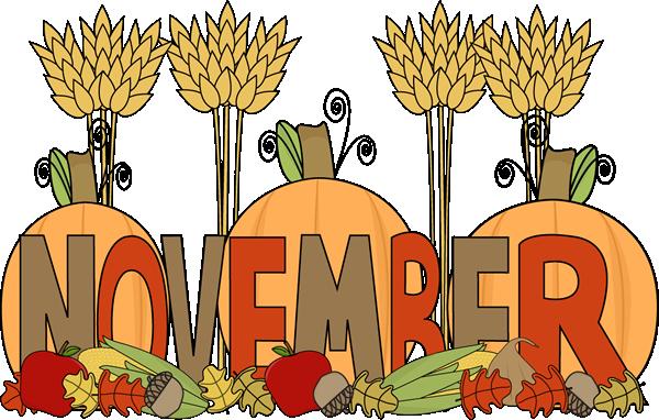 November calendar clip art svg black and white download Month Of November Clipart - Clipart Kid svg black and white download