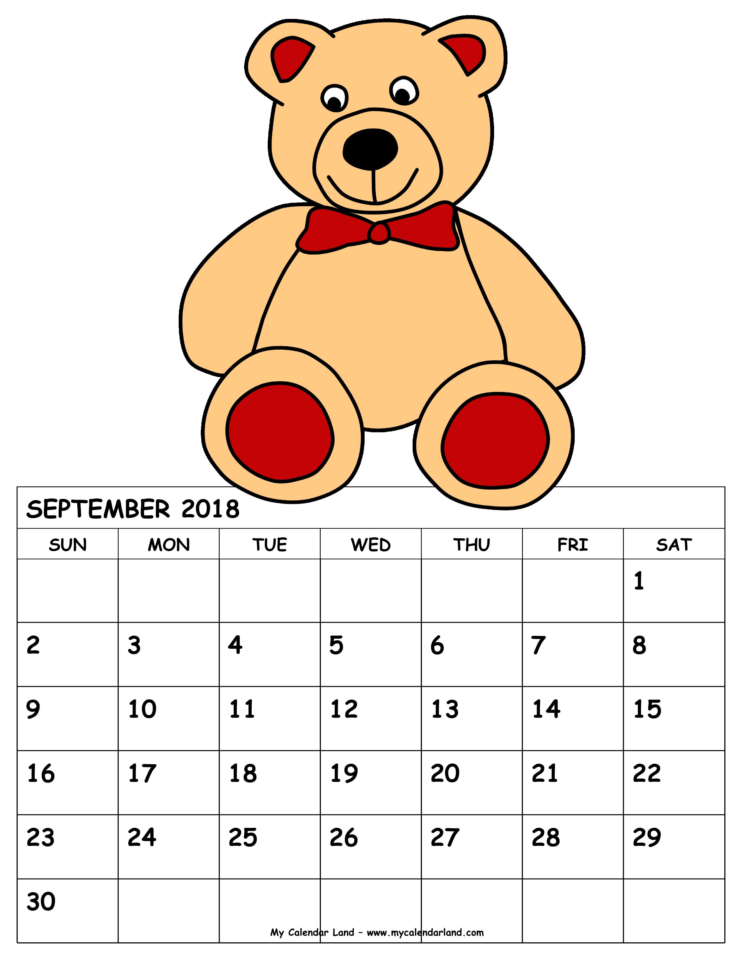 November calendar clip art picture September 2018 Calendar - My Calendar Land picture