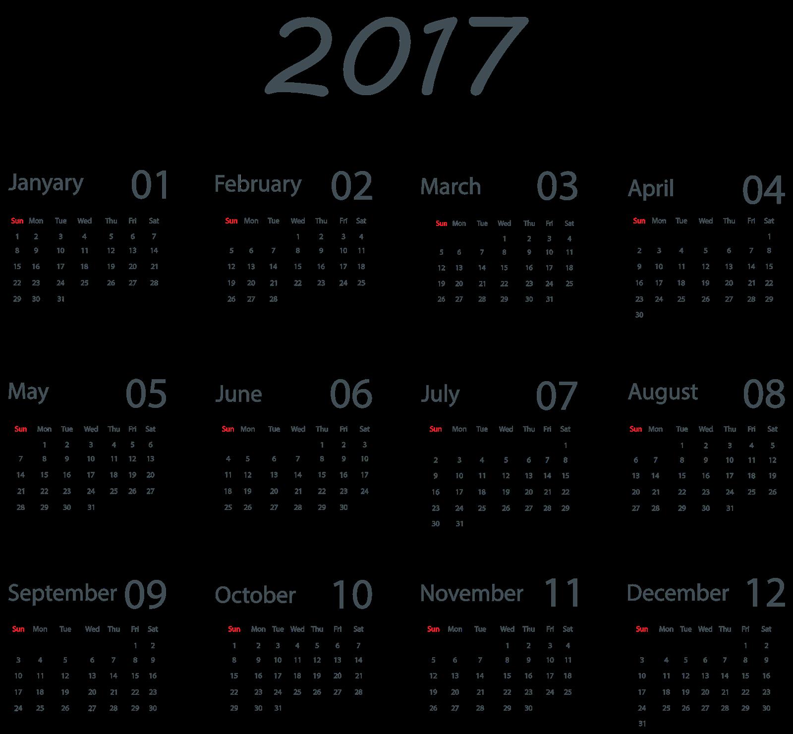 October calendar pictures clipart clipart transparent download 2017 Calendar PNG Transparent Images | PNG All clipart transparent download