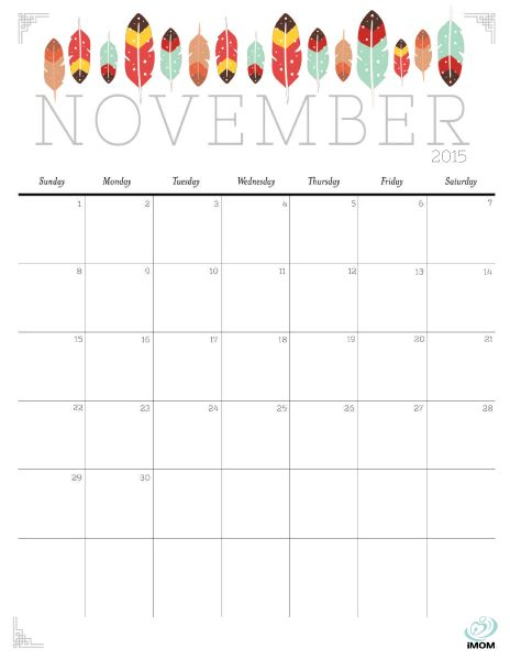 November calendar clipart 2015 jpg library library 17 Best images about Free, Cute & Crafty Printable Calendars on ... jpg library library