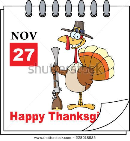 November calendar clipart pilgrims svg freeuse Thanksgiving Calendar Page Turkey Stock Photos, Royalty-Free ... svg freeuse