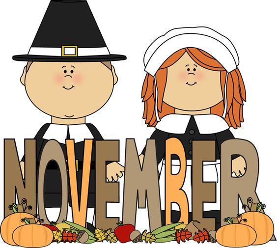 November calendar clipart pilgrims png freeuse download Free Month Clip Art   Month of November Pilgrims Clip Art Image ... png freeuse download