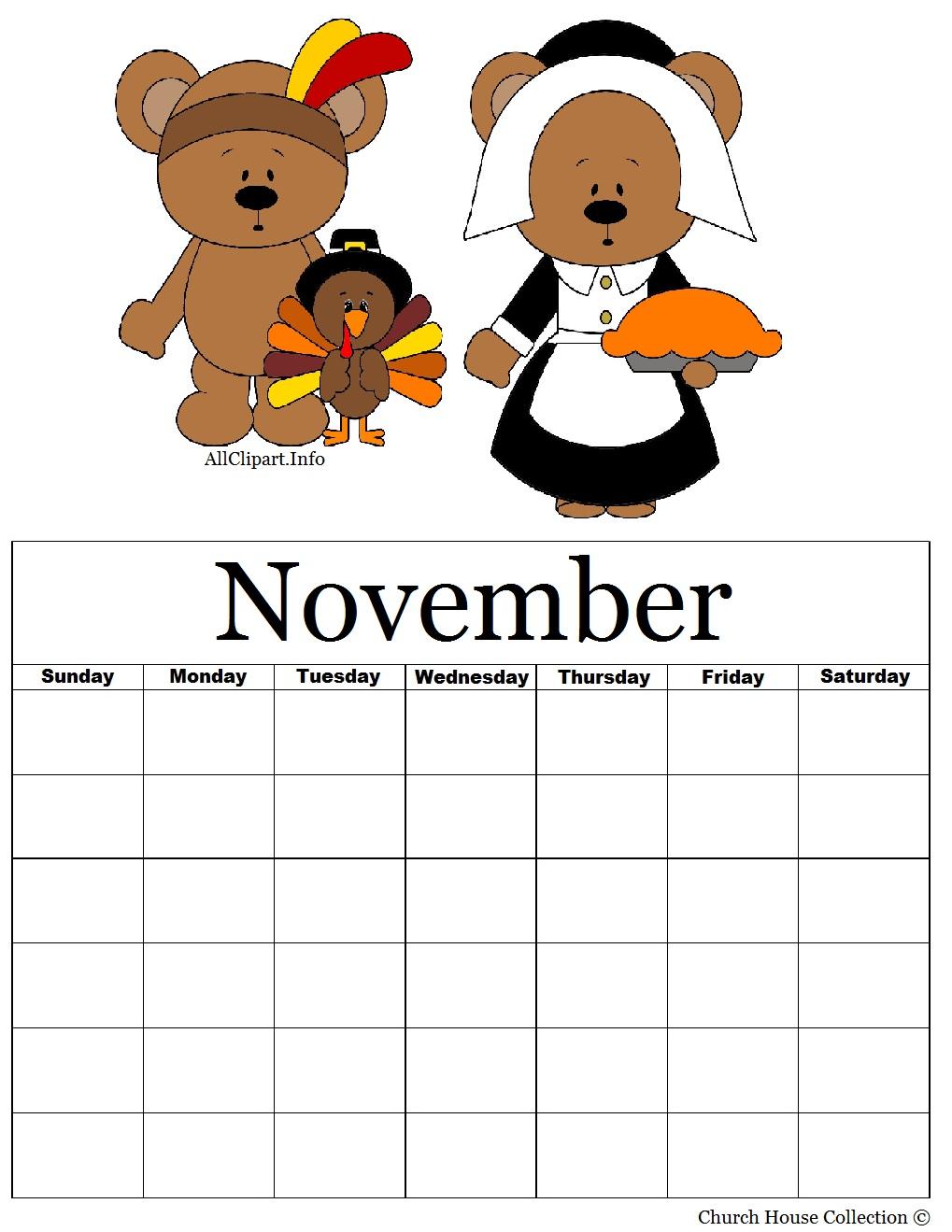 November calendar clipart pilgrims vector download Free calendar clipart thanksgiving - ClipartFest vector download