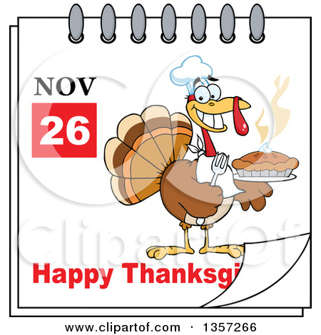 November calendar clipart turkey picture download Clipart of a November 26th Happy Thanksgiving Day Calendar with a ... picture download