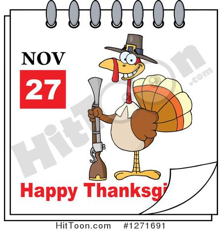 November calendar clipart turkey banner free download Thanksgiving Clipart #1271691: November 27th Happy Thanksgiving ... banner free download