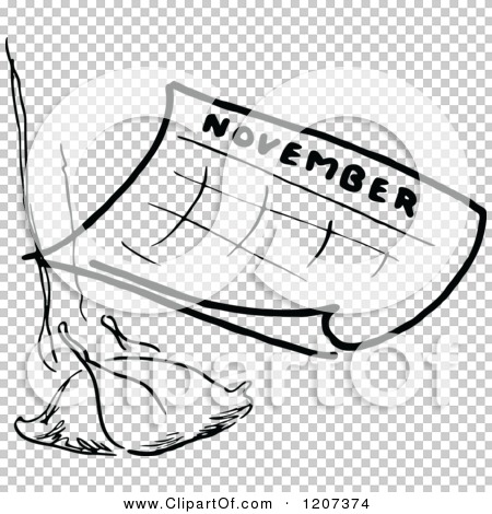 November calendar clipart turkey svg royalty free stock Clipart of a Vintage Black and White November Calendar with a ... svg royalty free stock