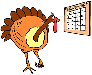 November calendar clipart turkey vector transparent Free Thanksgiving Animations - Gifs - Free Thanksgiving Clipart vector transparent
