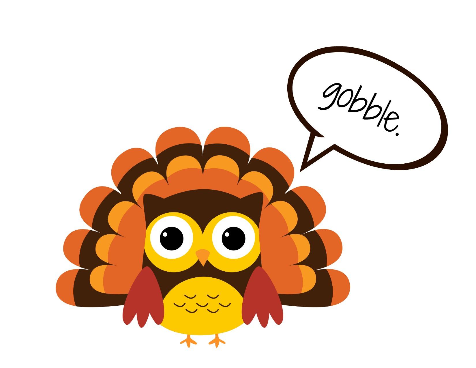 November calendar clipart turkey clip black and white stock Free calendar clipart thanksgiving - ClipartFest clip black and white stock