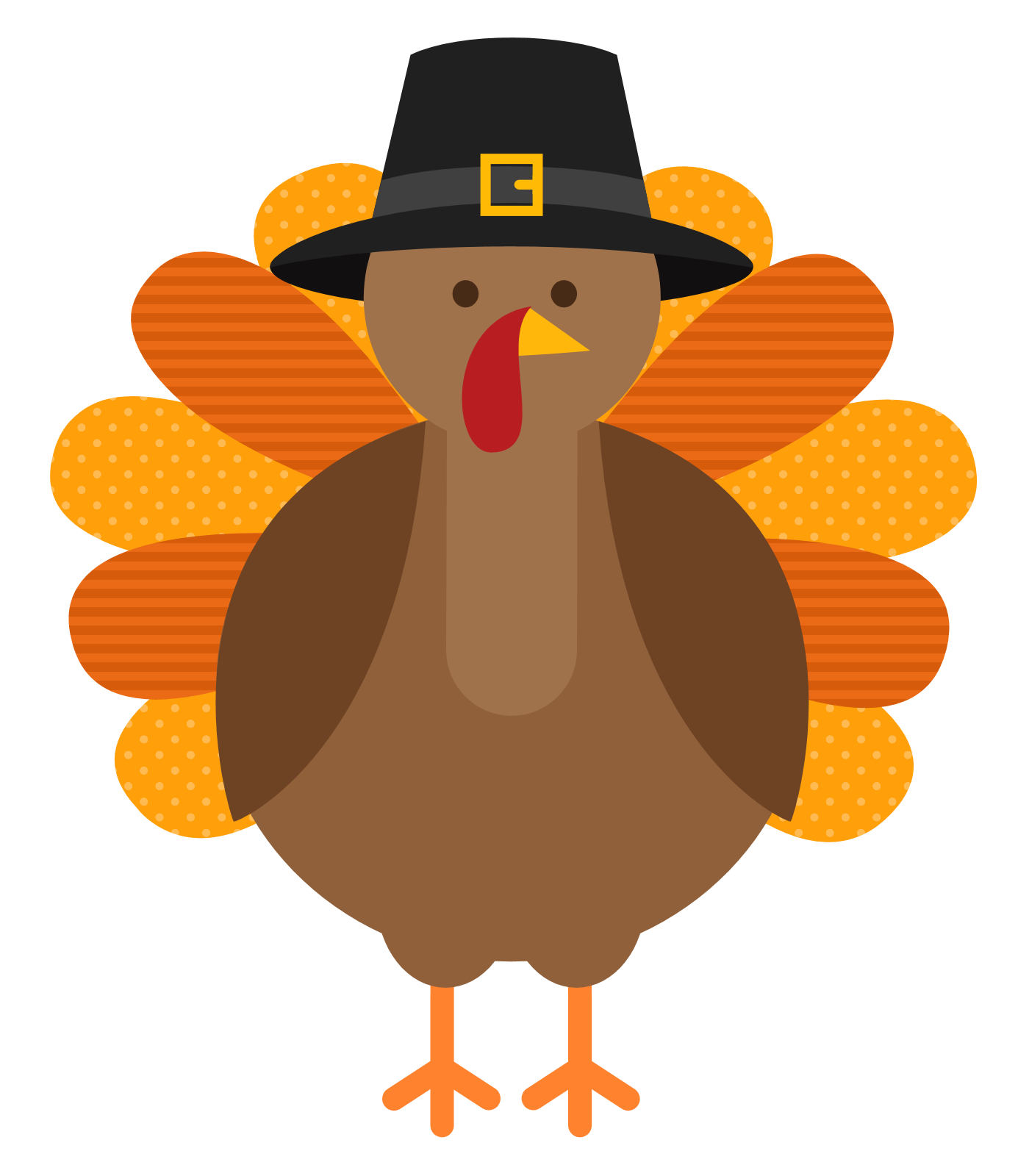 Thanksgiving cute clipart turkey with pilgrim vector freeuse 19 November clipart HUGE FREEBIE! Download for PowerPoint ... vector freeuse