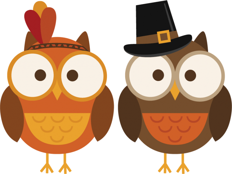 Clipart of turkey being thankful clipart royalty free library November owl clipart - Clipartix clipart royalty free library