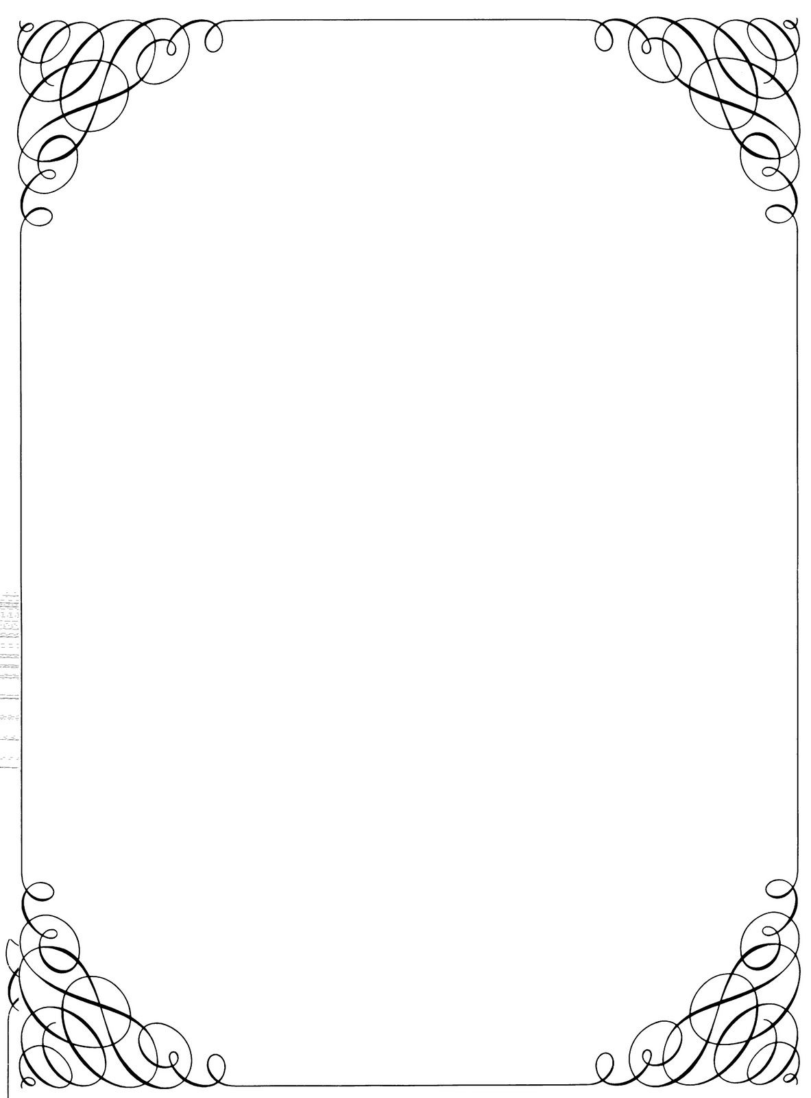 November corner frame clipart black and white picture black and white download Black And White Christmas Borders And Frames 110 x 150 ... picture black and white download