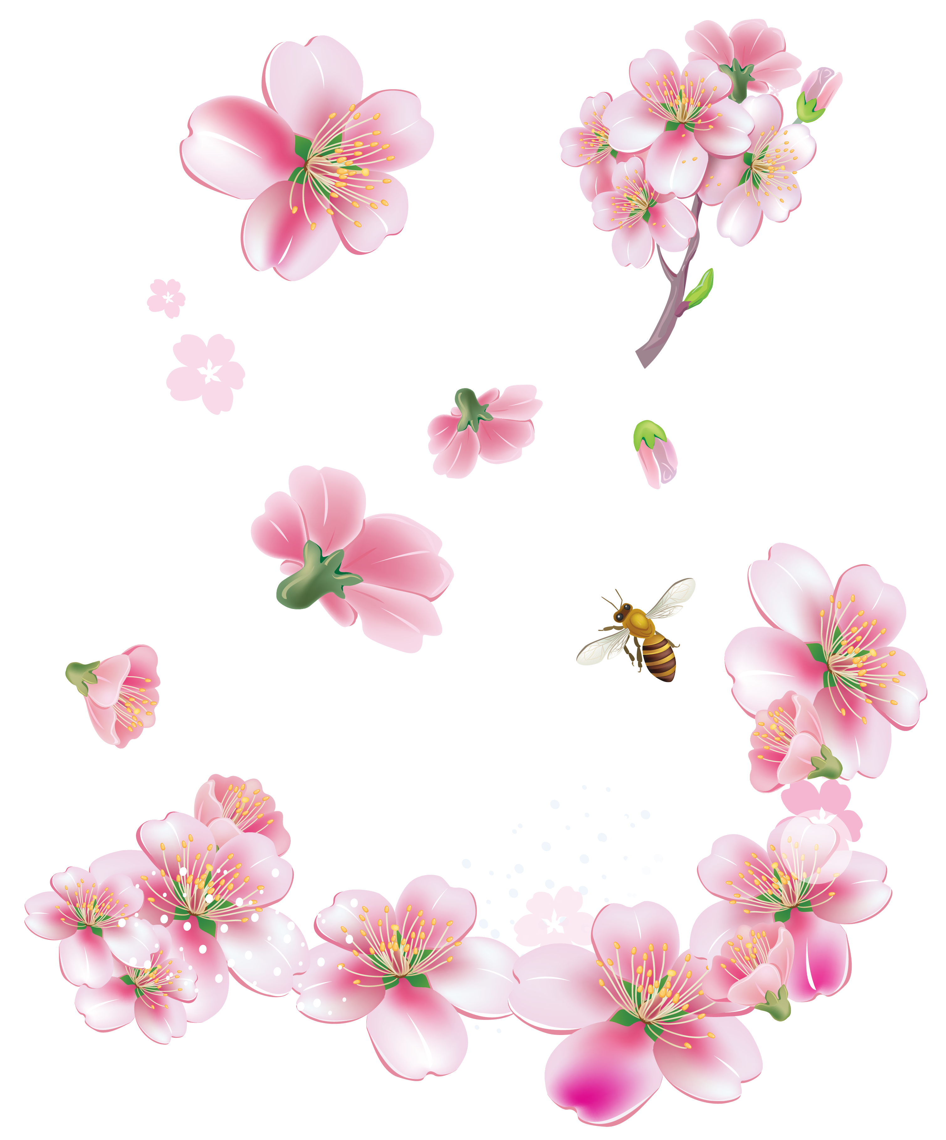 November flower clipart freeuse stock Image - Spring Pink Trees Flowers PNG Clipart.png | Animal Jam Clans ... freeuse stock