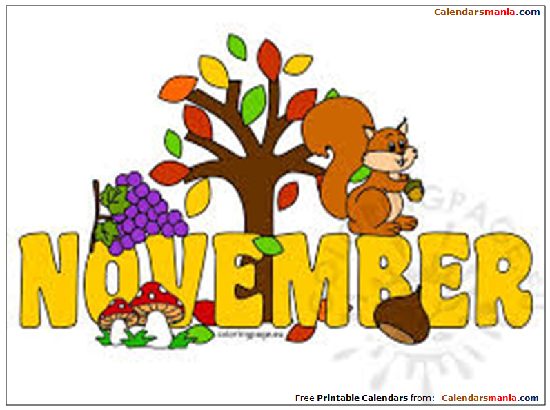 November pictures clipart clip transparent library Month of November Clipart clip transparent library