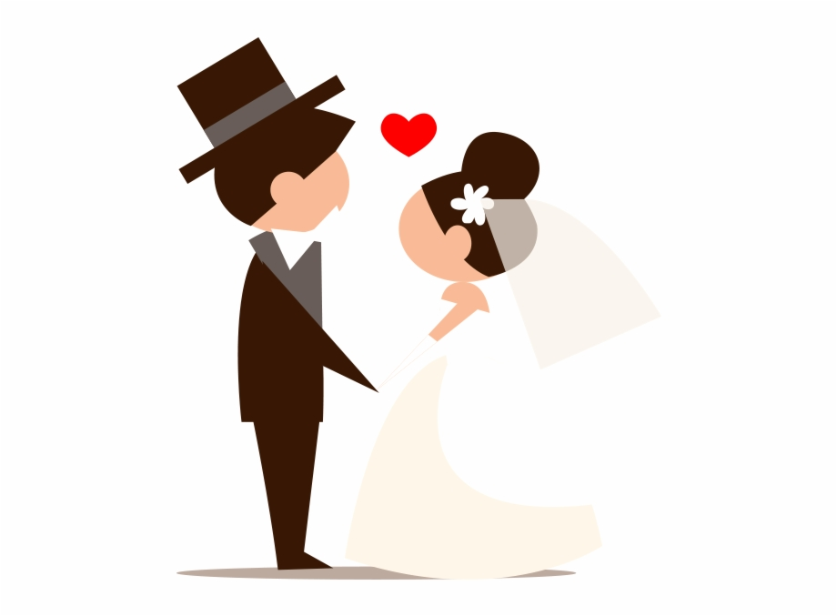 Novios caricatura clipart graphic library stock Clipart Novios Png - Groom And Bride Cartoon Png Free PNG ... graphic library stock