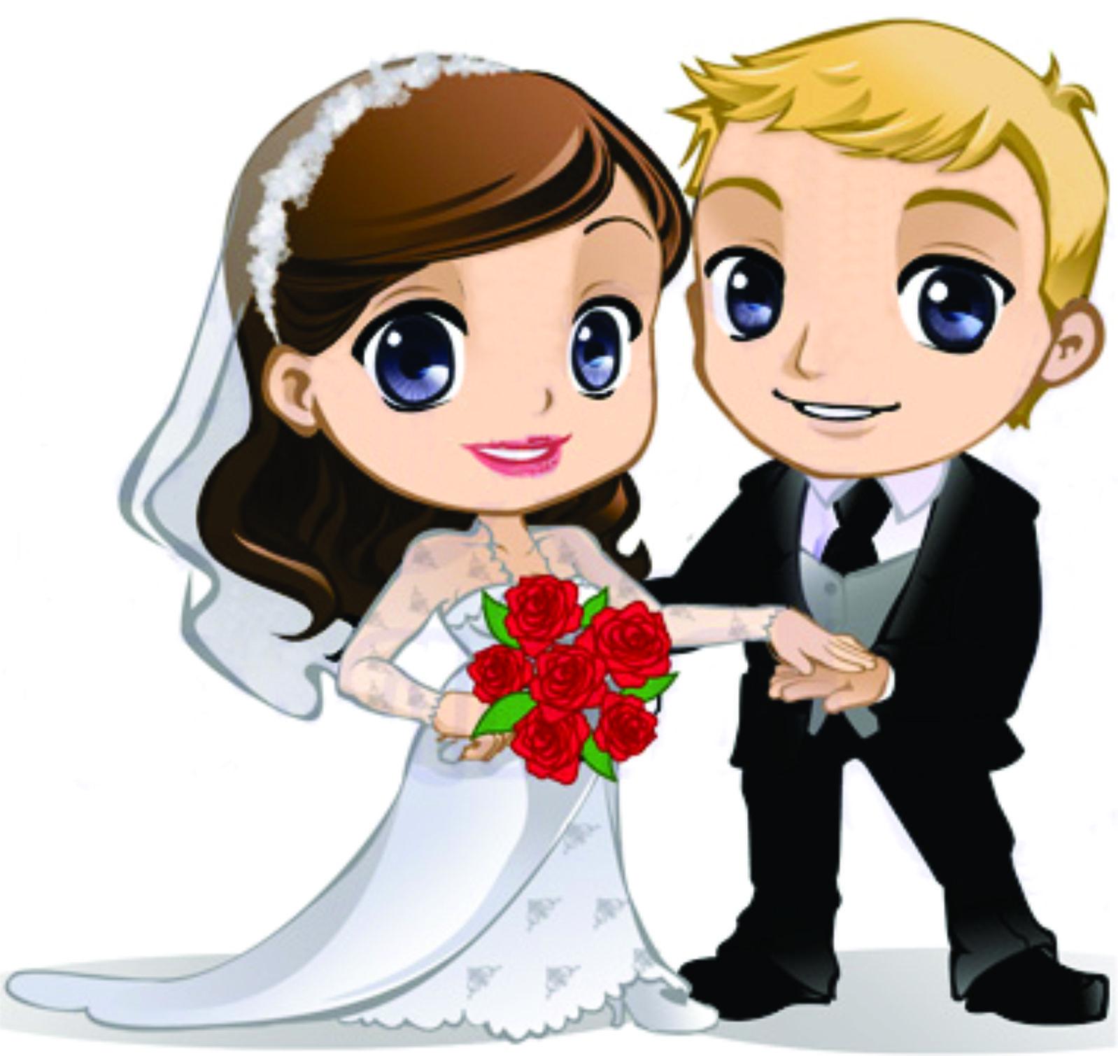 Novios caricatura clipart png black and white Dibujos. Clipart. Digi stamp - Novios. Bodas. Wedding ... png black and white