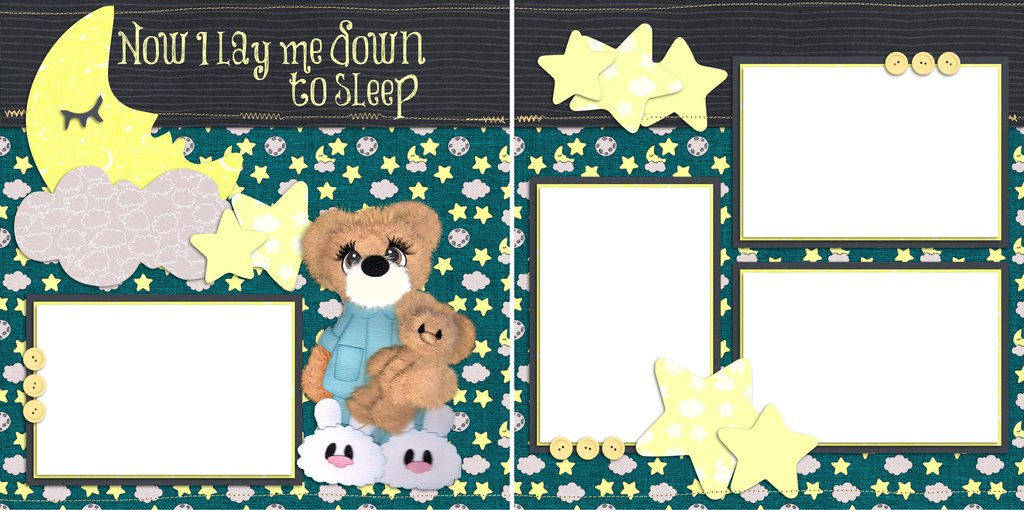 Now i lay me down to sleep clipart jpg free library Now I Lay Me Down to Sleep - Digital Scrapbook Pages - INSTANT DOWNLOAD jpg free library