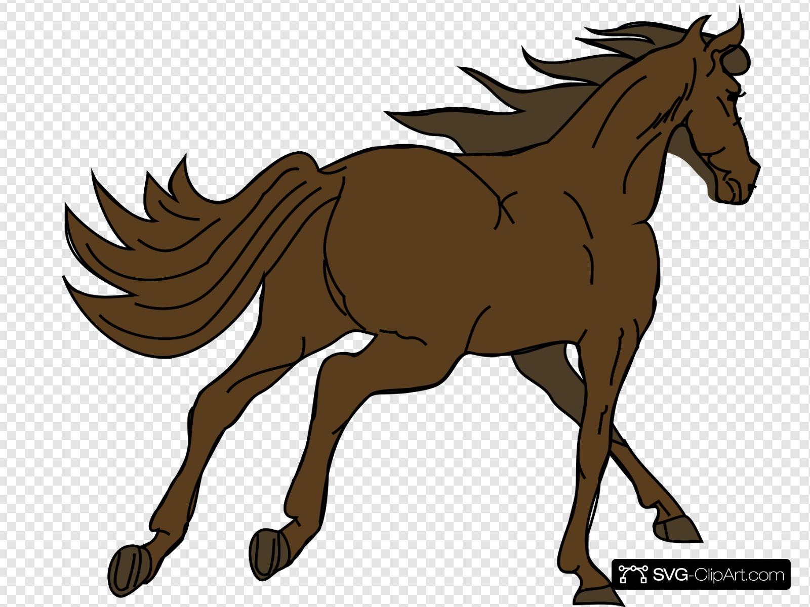 Nsl clipart picture Running Brown Horse Clip art, Icon and SVG - SVG Clipart picture