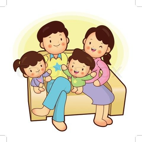 Nuclear family clipart black and white two girls svg black and white Nuclear family | The Filipino Family Info. Site Online ... svg black and white